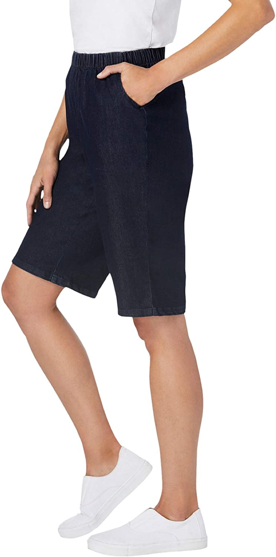 Woman Within Women's Plus Size Fineline Denim Short