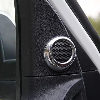 Justautotrim Steel Interior Door Speaker Cover Trim for 2014 2015 2016 2017 2018 2019 Toyota Tundra Accessories