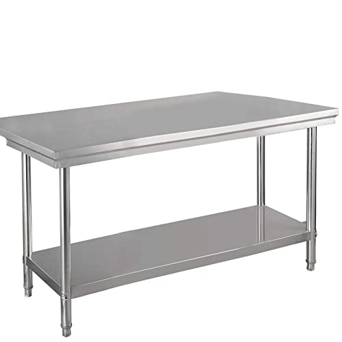 Nsf Stainless Steel Table Heavy Duty Commercial Kitchen Food Prep