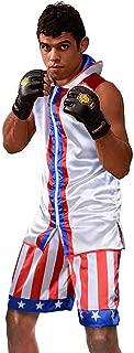 Men's Boxing Hoodie Kickboxing Exercise Training Gym Workout Clothing Sleeveless Sport Vest Jacket Shorts Set