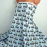 Baumwoll Jersey: Trecker, 17,00 €/m, hellblau blau,