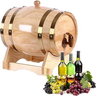 Yao 1.5L-10L Chêne Pin Baril de Vin, Stockage Spécial Baril Seau de Bière pour Brandy Whisky Ménage pour la Maison Brassag...