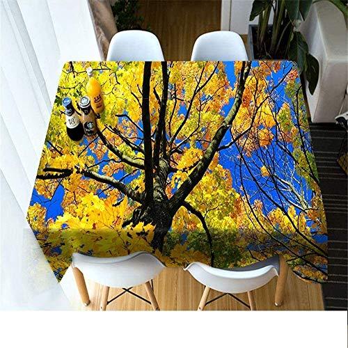 WSJIABIN Mantel Tejido de poliéster Creativo Creativo Simple Personalidad Impresión Digital D Mantel de Picnic Adecuado para Interiores y Exteriores Reutilizable 140x220cm
