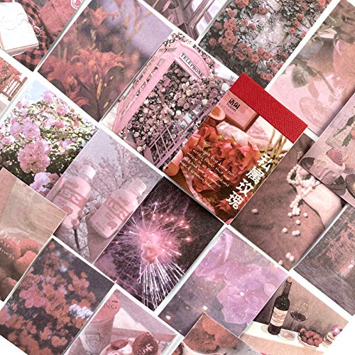 TNYKER シール フレークシール 手帳 カレンダー ステッカー おしゃれ 海外 風景 写真 花 植物 デコ 手帳用 スケジュール アルバム 50枚 薔薇のハーモニー