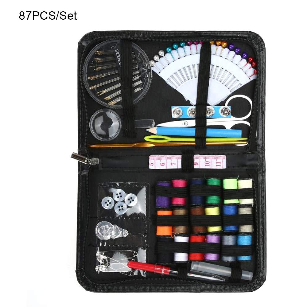 FGRYB Kit de Costura para Adultos y niñas, para emergencias en la Universidad de Viajes, Juego de Suministros de Costura Premium con Tijeras, dedal, Hilo, Aguja, Cinta métrica, botón, Estuche: Amazon.es: Hogar
