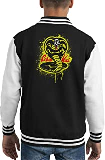 Cloud City 7 Strike First Cobra Kai Snake Logo Kid's Varsity Jacket