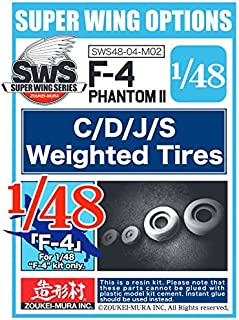 Zoukei-Mura ZKMA29356 1:48 F-4C F-4D F-4J F-4S Phantom II Weighted Tires [Model KIT Accessory]