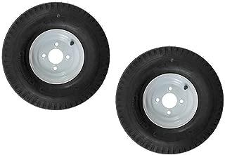eCustomRim 2-Pack Trailer Tire On Rim 570-8 5.70-8 8 in. Load C 4 Lug White