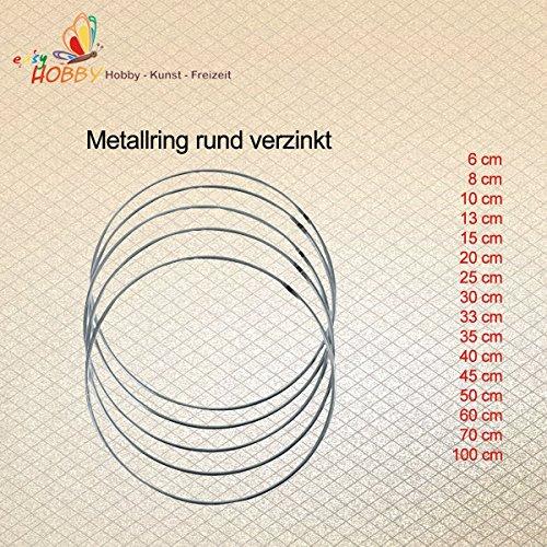 Metallring rund verzinkt (25 cm), 6 Stück