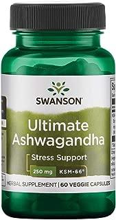 Swanson Ultimate Ashwagandha Ksm-66 250 Milligrams 60 Veg Capsules