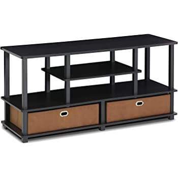 FURINNO JAYA Large Stand for up to 55-Inch TV, Black