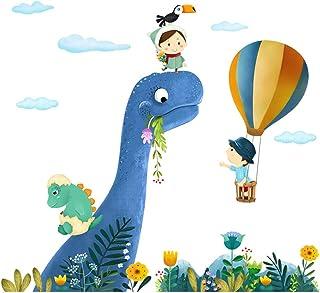 ufengke Pegatinas De Pared Dinosaurio Vinilos Adhesivos Pared Globos Aerostáticos para Dormitorio Habitación Infantiles Bebés