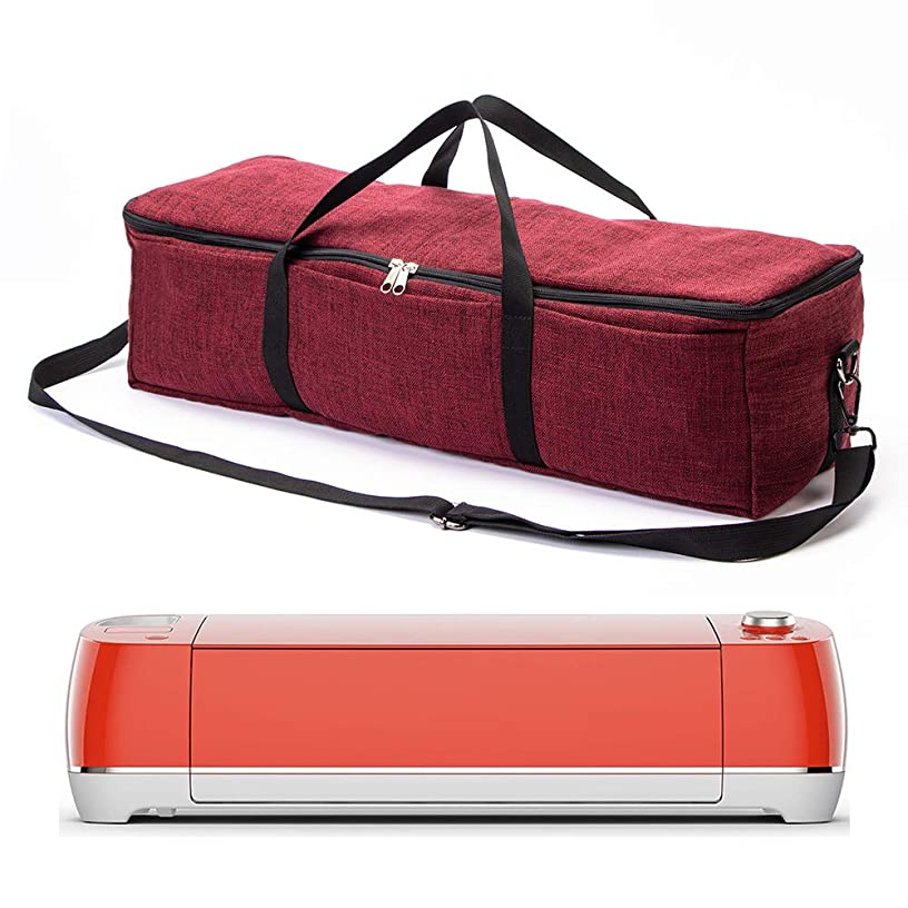 Cricut Storage Case, Foldable Bag Fit Cricut Explore Air 2 and Maker, Heavy Duty Durable Tote Carrying Bag Supplies Accessories, Sewing Machine Specific Bag GJB577 (red Wine)