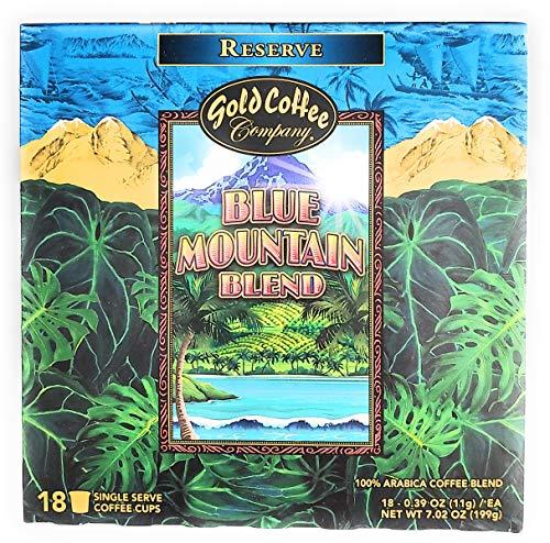 Hawaiian Gold Blue Mountain Blend Coffee 18ct. Kcup 2.0 net wt 7.02 oz