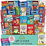 Snack Box Variety Pack Care Package (40 Count) Halloween Trick or Treat Candies Gift Basket - College Student Crave Food Arrangement Candy Chips Cookies - Birthday Treat for Women Men Adult Kid Teens