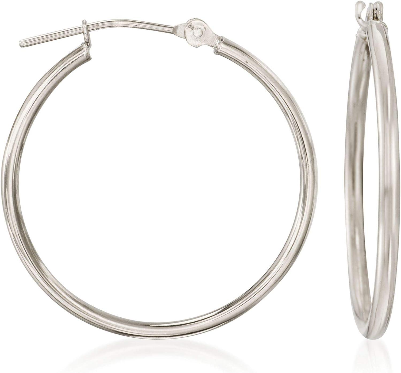 Ross-Simons 1.5mm 14kt White Earrings Washington Mall Tucson Mall Hoop Gold
