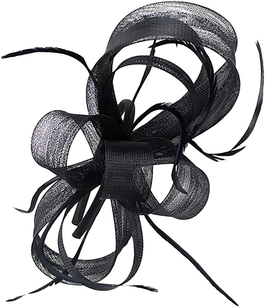 Kloware Feather Fascinator Headband Bridal Headpiece Wedding Headwear For 1920s