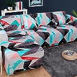 WXQY Sala de Estar Funda de sofá elástica con patrón geométrico Toalla de sofá combinación Antideslizante Funda de sofá Funda de sofá A3 3 plazas