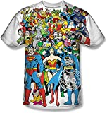 Amacigana DC Comics Superman Spider Man The FlashMen Original Universe Sublimation Camiseta Blanco multicolor XL