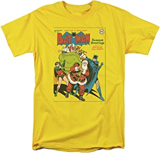 Christmas Batman & Robin Cover No. 27 Adult Mens T-Shirt Tee