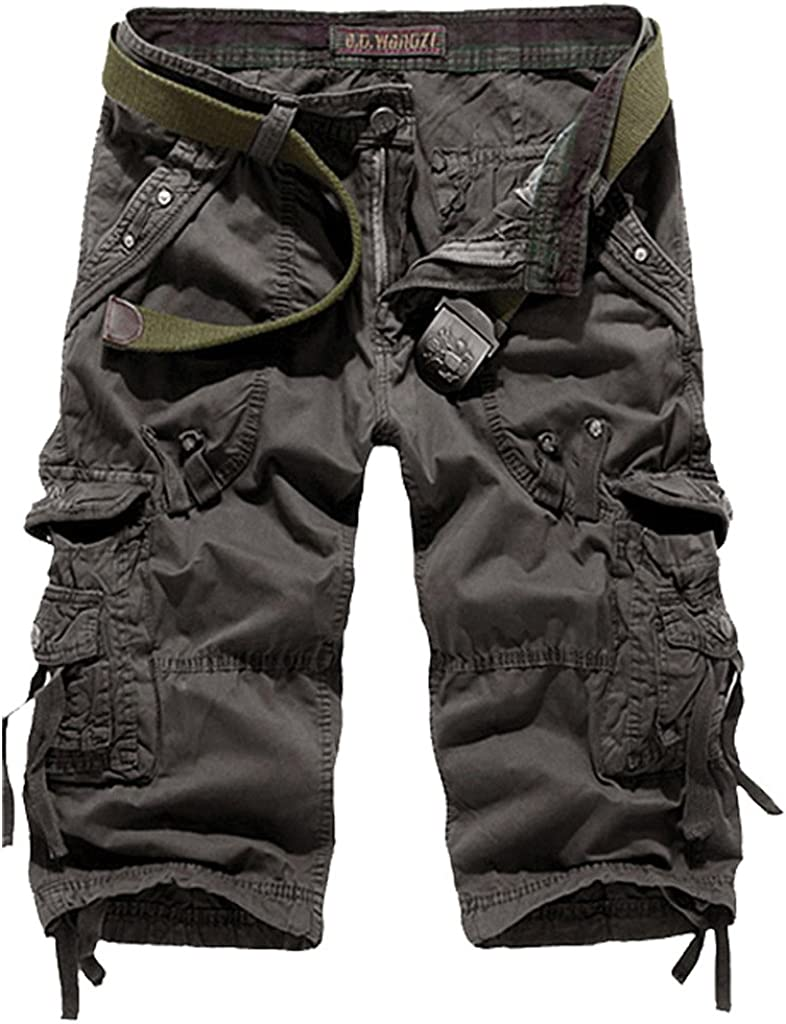 Men's All-Season Cotton Loose Fit Multi Pocket Cargo Shorts
