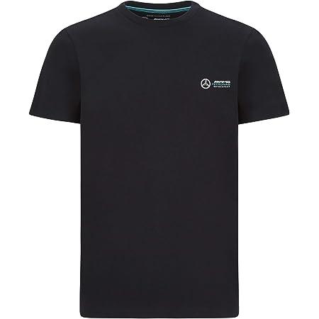 Mercedes-AMG Petronas T-Shirt pour Homme avec Grand Logo Moyen Noir