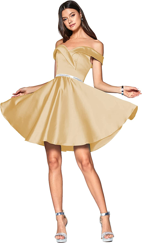 ZMOVQA Women's Short Satin Homecoming A-line Dresses Excellence Sho The Regular dealer Off