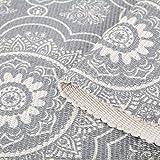 SHACOS Handgewebte Terrassen Teppiche Mandala mit Quasten Vintage Baumwollteppiche Waschbar Grau Ideal für Eingangstür, Küche, Keller usw. 60 x 90 cm - 7