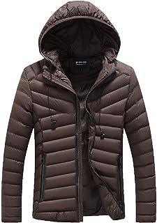7a191e19d8216 Men's Autumn Winter Coat, Warm Zipper Hoodie Thick Jacket Down Outwear Slim  Long Trench Overcoat