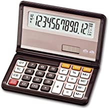 $27 » Portable Solar Foldable Electronics Desktop Calculators, Big Button 12 Digit Large LCD Display, Handheld for Daily and Bas...