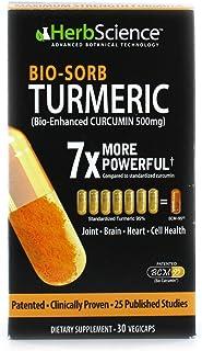 HerbScience Bio-Sorb Turmeric, Bio-Enhanced Curcumin, Advanced Absorption, Cardiovascular Health, Joints Support and Anti-...