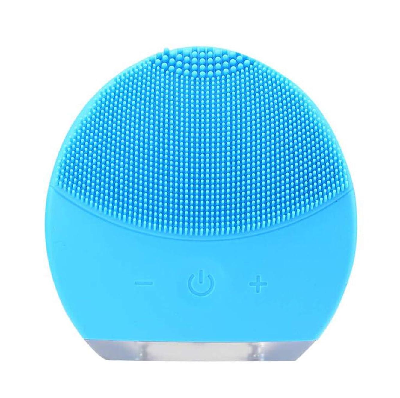 薄めるボール摂氏度超音波振動美容機器洗浄器、皮膚の毛穴を最小限に抑えるマイクロダーマブレーション毛穴、USB 充電と防水,Blue