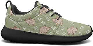 Funny Little Cute Pigs in Snow Ladies Sneakers for Women Fashion Breathable Running Shoes Girls