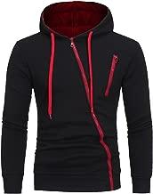 Kimloog Men Long Sleeve Oblique Zipper Slim Hoodie Sweatshirt Autumn Sport Jacket