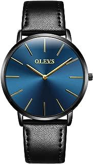 Men's Ultra Thin Watch with Leather/Steel Band,Fashion Casula Watch for Men,Male New Watches,Quartz Watch Men,Men's Waterproof Watch,Classic Simple Watch Male,Luxury Watch Men,Men Minimalist Watch