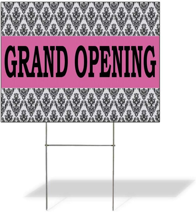 Fastasticdeals Weatherproof Yard Sign Pink Under blast sales Opening Busines San Diego Mall Grand