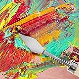 WISAMIC 12 pcs Malmesser Malspachtel Künstler Set – Farbe Schaber Edelstahl für Acryl und Öl - 11