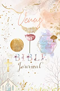 Venus Bible Prayer Journal: Personalized Name Engraved Bible Journaling Christian Notebook for Teens, Girls and Women with...