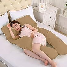 Novo 2.5Kg Pp Cotton Comfort Pregnancy & Maternity Pillow, Brown - 145X80X25cm