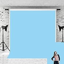 Little Lucky 5x7ft Baby Solid Blue Backdrop Pure Color Photo Background Vinyl Sky Blue Backdrops Photographer Headshot Por...