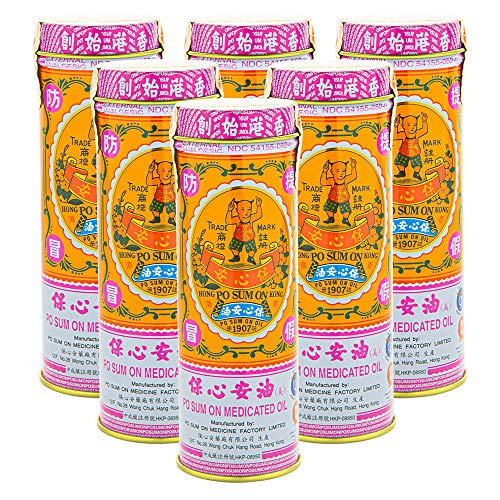 Po Sum On Medicated Oil (Muscle, Joint, Back Pain Relief) (1.0 Fl Oz) (6 Bottles) (Solstice)