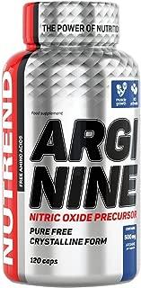 ARGININE 120 Capsules 2000mg of L-arginine per Capsule by Nutrend