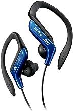 هدفون JVC Clip Style هدفون آبی و سفید سبک و راحت گوش کلیپ. Splash Proof Sound Power Power Resident with Bass Boost HAEB75A