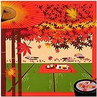 《ネコポス対応》(キステ)Kisste 三毛猫みけのゆめ日記 小ふろしき 5-4-02167 11月・みけと紅葉