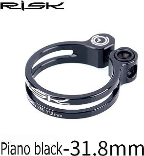 チタン合金スクリュー 軽量 7075アルミニウム合金 ロックシートクランプ マウンテンロードバイク用, (Color : Black, UnitCount : 31.8mm)
