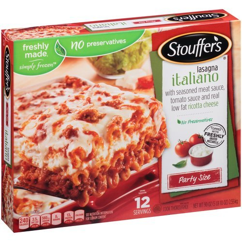 STOUFFERS LASAGNA WITH MEAT SAUCE ITALIANO PARTY SIZE 90 OZ