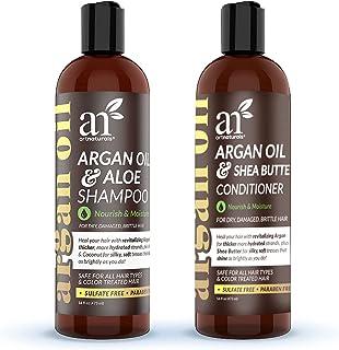 artnaturals Moroccan Argan Oil Shampoo and Conditioner Set - (2 x 16 Fl Oz / 473ml) - Volumizing & Moisturizing - Gentle o...