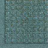 M+A Matting - 280580023 WaterHog Fashion Commercial-Grade Entrance Mat, Indoor/Outdoor Charcoal Floor Mat 3' Length x 2' Width, Bluestone