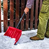 Jago Snow Shovel (Red) Plow Pusher Scoop Lightweight Durable Transportable…