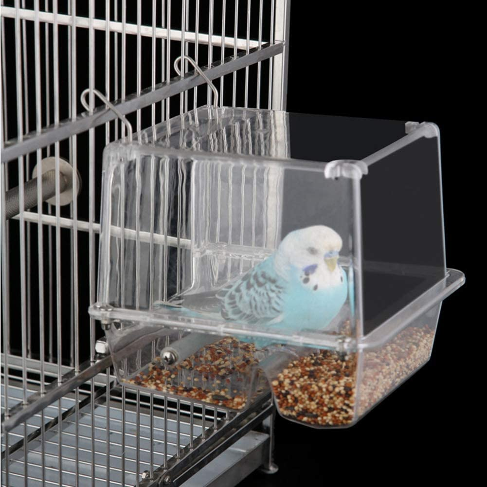 Automatic free Bird Feeder for Cage Regular dealer Fee Plastic Seed Transparent